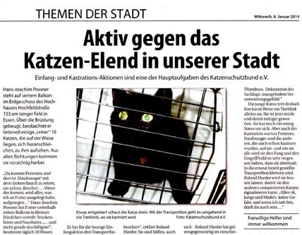 Mittwoch, 8. Januar 2014, erschienen im Düsseldorfer Stadtspiegel
