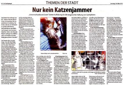 Samstag, 30. März 2013, erschienen im Düsseldorfer Stadtspiegel
